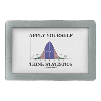 Apliqúese piensan las estadísticas (el humor de la hebillas de cinturon