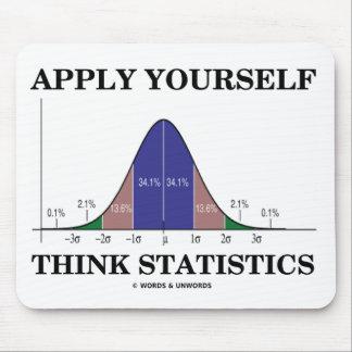 Apliqúese piensan las estadísticas la curva de Be Alfombrillas De Ratón