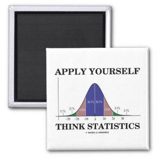 Apliqúese piensan las estadísticas (la curva de imán cuadrado