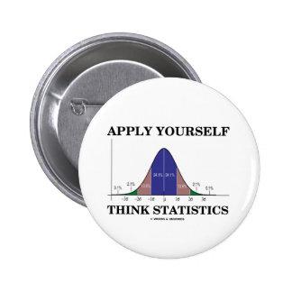 Apliqúese piensan las estadísticas (la curva de pin redondo 5 cm