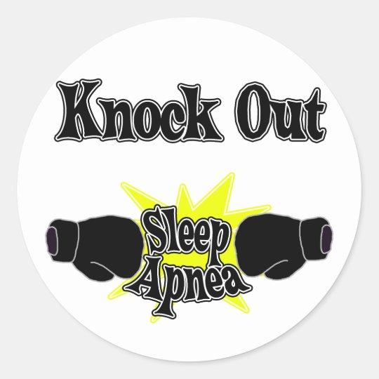 Apnea de sueño pegatina redonda