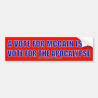 Apocalipsis de McCain Pegatina Para Auto