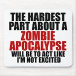Apocalipsis del zombi alfombrilla de raton