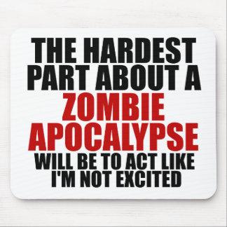 Apocalipsis del zombi alfombrillas de ratón