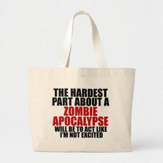 Apocalipsis del zombi bolsa tela grande