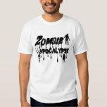 Apocalipsis del zombi camisas