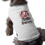 Apocalipsis del zombi camisetas de mascota