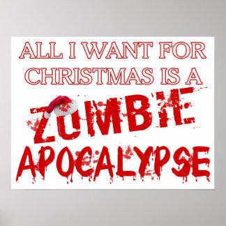Apocalipsis del zombi del navidad poster