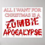 Apocalipsis del zombi del navidad póster