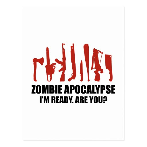 Apocalipsis del zombi estoy listo soy usted postales