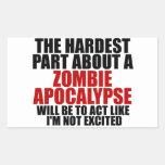 Apocalipsis del zombi etiqueta