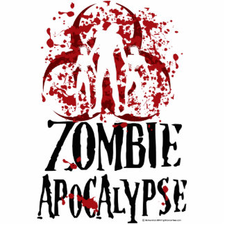Apocalipsis del zombi fotoescultura vertical