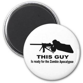 Apocalipsis del zombi imán redondo 5 cm