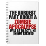 Apocalipsis del zombi libretas espirales