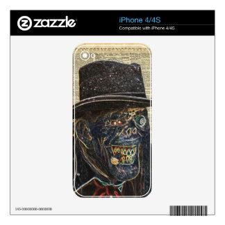 Apocalipsis del zombi, monstruo, caminando iPhone 4S calcomanía