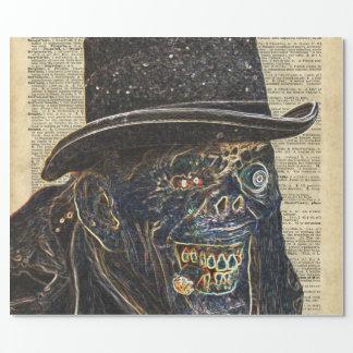 Apocalipsis del zombi, monstruo, caminando papel de regalo