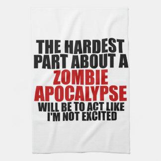 Apocalipsis del zombi toalla