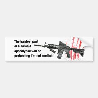 Apocalipsis del zombi pegatina para auto