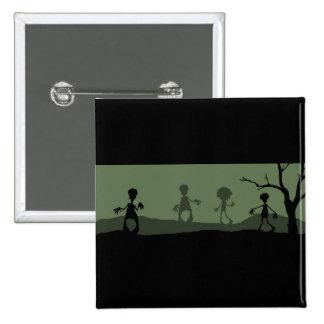 ¡Apocalipsis del zombi! Pin Cuadrada 5 Cm