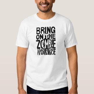 Apocalipsis del zombi playeras