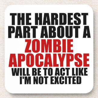 Apocalipsis del zombi posavasos de bebida