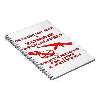 Apocalipsis del zombi que finge no soy emocionado cuadernos