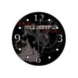 Apocalipsis del zombi: Reloj de pared del único su