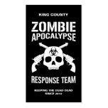 Apocalipsis del zombi tarjetas de visita
