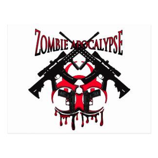 Apocalipsis del zombi tarjetas postales