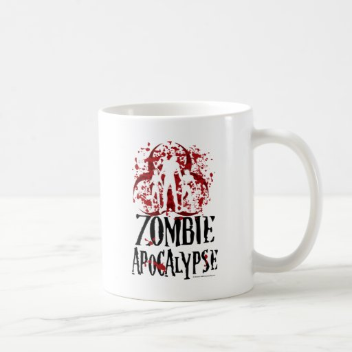 Apocalipsis del zombi taza