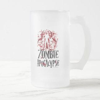 Apocalipsis del zombi taza de cristal
