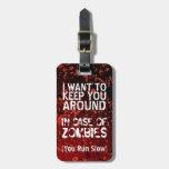 Apocalipsis divertida de los zombis usted corre le etiquetas bolsa