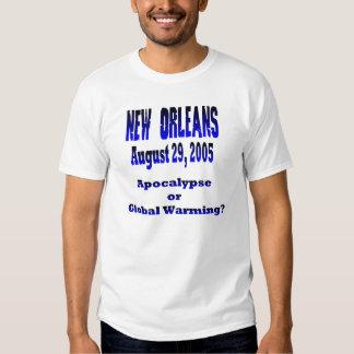 Apocalipsis o camiseta del calentamiento del remera