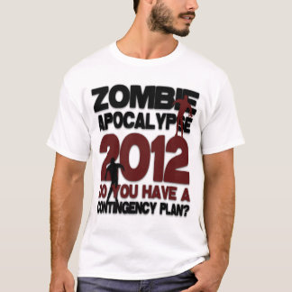 Apocalipsis retra 2012 del zombi playera
