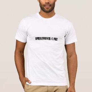 Apocalypse1415 4 Prez white organic Tshirt