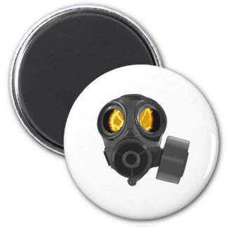 apocalypse gasmask 2 inch round magnet