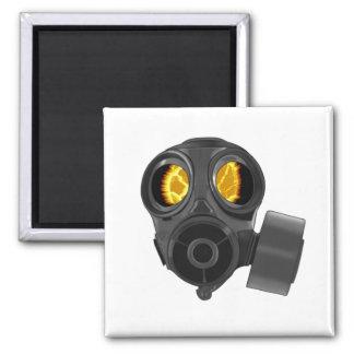 apocalypse gasmask 2 inch square magnet