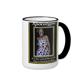 Apocalypse: Try to look your best Ringer Coffee Mug