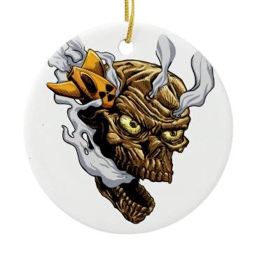 Apocalypse zombie ceramic ornament