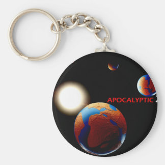 Apocalyptic 2012 basic round button keychain