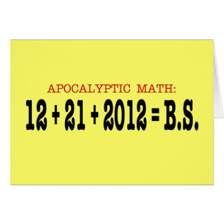 Apocalyptic Math Card