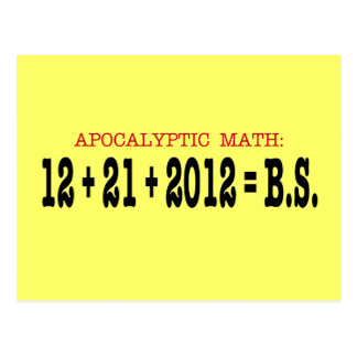 Apocalyptic Math Postcards