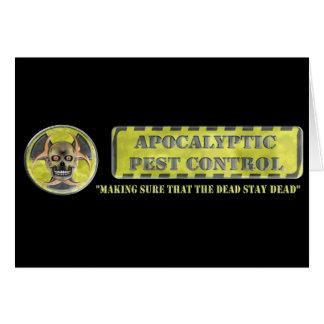 Apocalyptic Pest Control Card