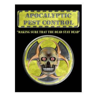 Apocalyptic Pest Control Postcard