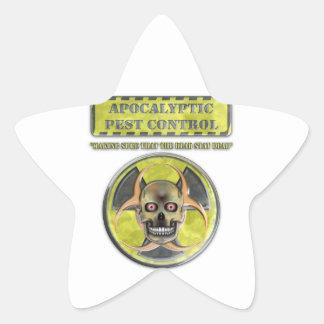Apocalyptic Pest Control Star Sticker