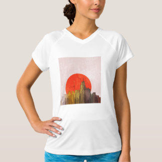 Apocalyptic Retro City Womens Active Tee