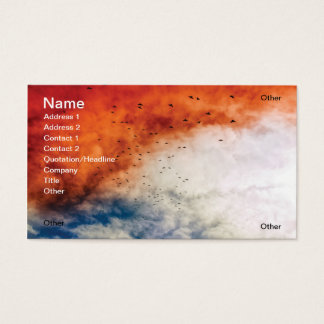 Apocalyptic sky business card