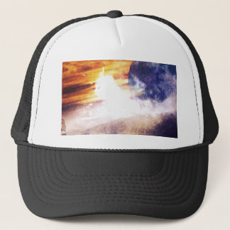 Apocalyptic space sideral planet colourful crash trucker hat