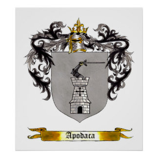 Apodaca Shield of Arms Poster