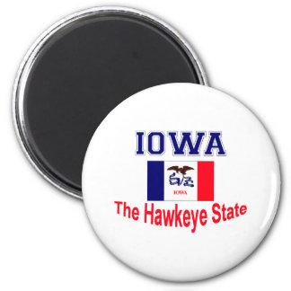Apodo de Iowa Imán Redondo 5 Cm